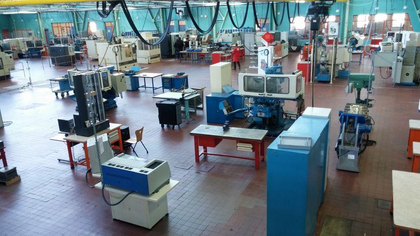 L'atelier du lycée Henri Brisson de Vierzon.