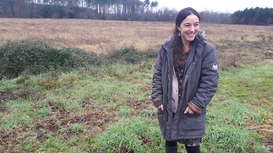 Aline, agricultrice à Laluque