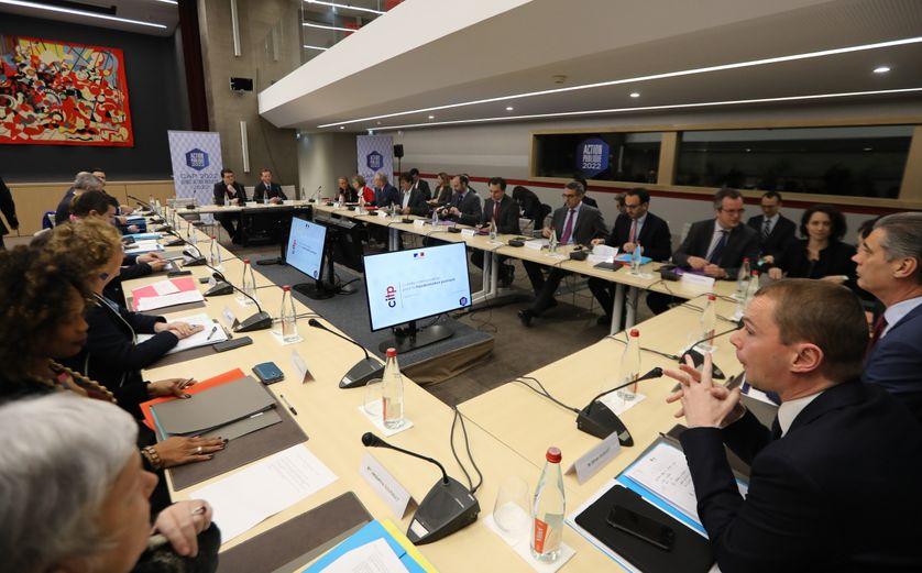 Vue générale du premier comité interministériel de la transformation publique, le 1er février 2018