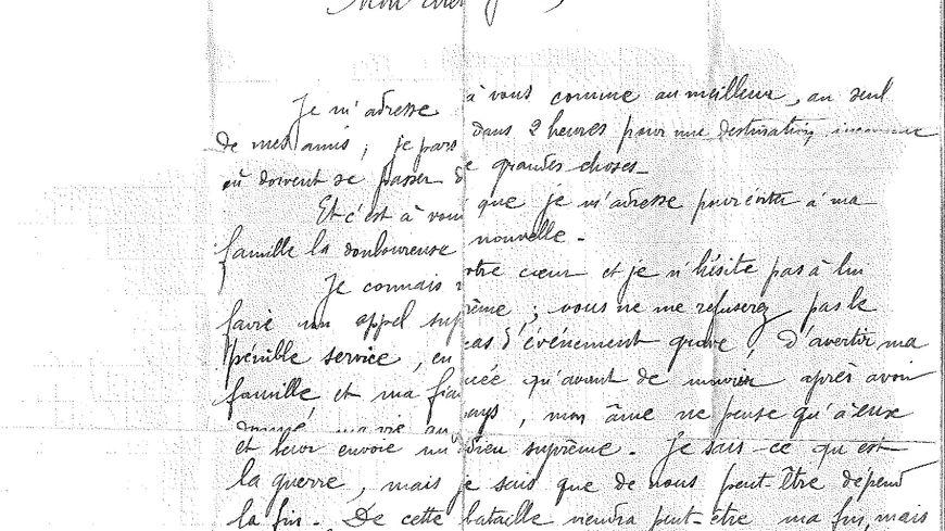 La lettre d 39 adieu d 39 un poilu de 1915 retrouv e chez un for Cuisinier francais 7 lettres
