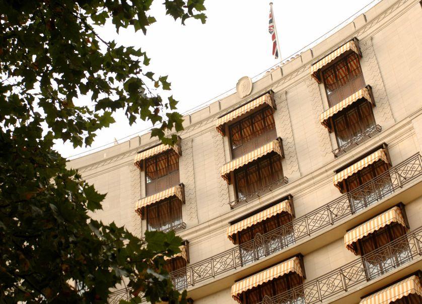 Façade de l'hôtel londonien The Dorchester, où Alexandre Djouhri a ses habitudes.