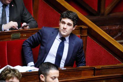 28/11/2017 ; Paris, FRANCE. Aurélien Pradié, séance de questions au gouvernement.