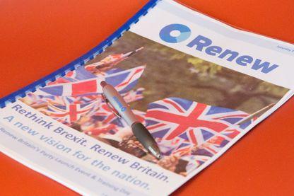"""Lors des prochaines législatives, contre le Brexit, des centaines britanniques vont lancer un nouveau parti """"Renew"""", inspiré du """"En Marche!"""" français."""