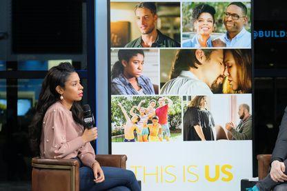 """L'actrice Susan Kelechi Watson évoque la série télévisée """"This Is Us"""" lors d'un entretien télévisé à New York"""