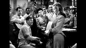 """Hoagy Carmichael avec Lauren Bacall dans """"To Have and Have Not-Le Port de l'angoisse"""" film réalisé par Howard Hawks, 1944. C'est le premier film de Lauren Bacall"""