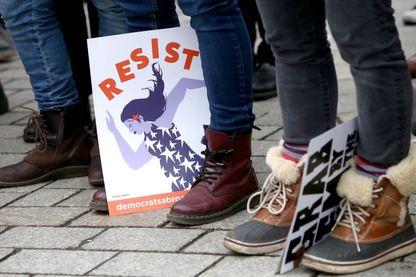 #balanceTonPorc se passe un peu partout depuis l'Affaire Weinstein... Ici, des manifestants pour le droit des femmes, en Allemagne, le 21 janvier 2018