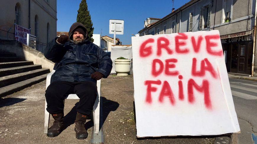 Anthony Lavergne poursuit sa grève de la faim, entamée depuis le lundi 19 février