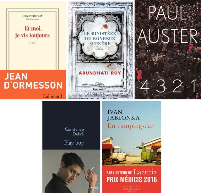 """Couvertures des livres évoqués au """"Masque et la Plume"""" cette semaine"""
