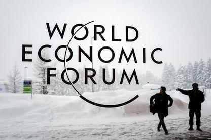 Le congrès annuel de Davos sous la neige