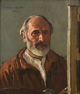 Jules Adler Autoportrait à l'âge de 64 ans