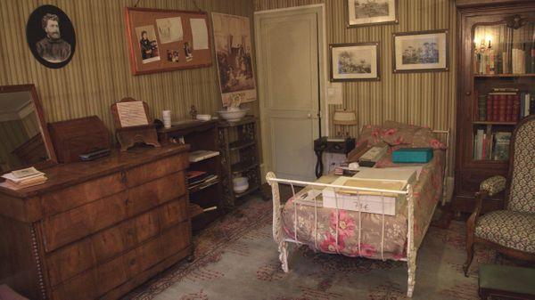 La chambre de Georges Bizet à Bougival où il mourut dans la nuit du 2 au 3 juin 1875