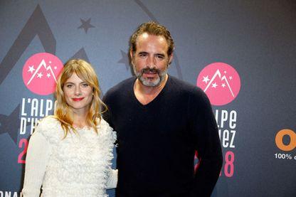 """Mélanie Laurent et Jean Dujardin, avant-première du film """"Le retour du héros"""" au Festival du Film de l'Alpe d'Huez 2018"""