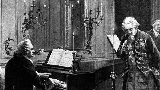 Jean-Sébastien Bach jouant pour Frédéric II de Prusse