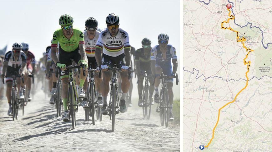 Découvrez le parcours du Paris-Roubaix 2018 et ses 29 secteurs pavés sur notre carte interactive