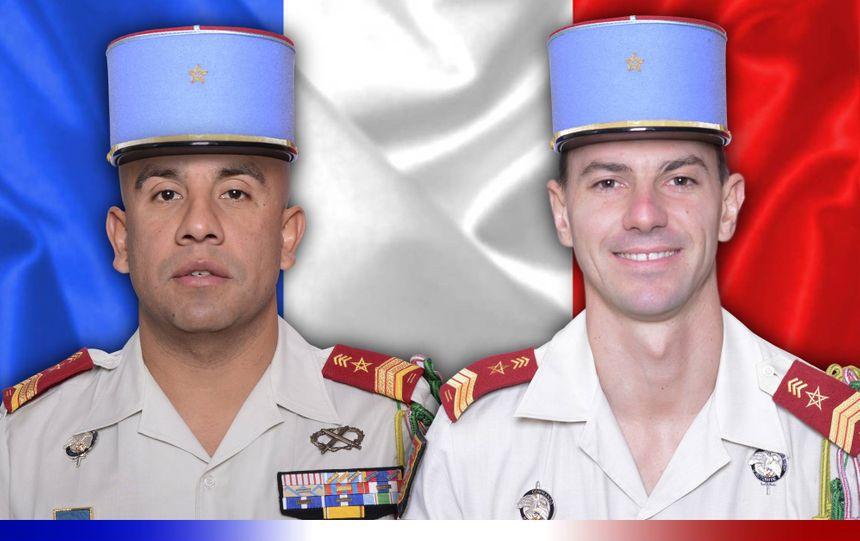 Le sergent-chef Emilien Mougin et le brigadier-chef Timothé Dernoncourt