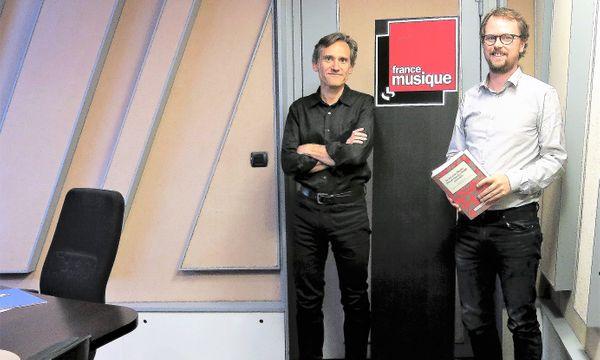 France Musique, studio 152... Philippe Venturini & Étienne Jardin - Éditions Actes Sud-Palazzetto Bru Zane (de g. à d.)