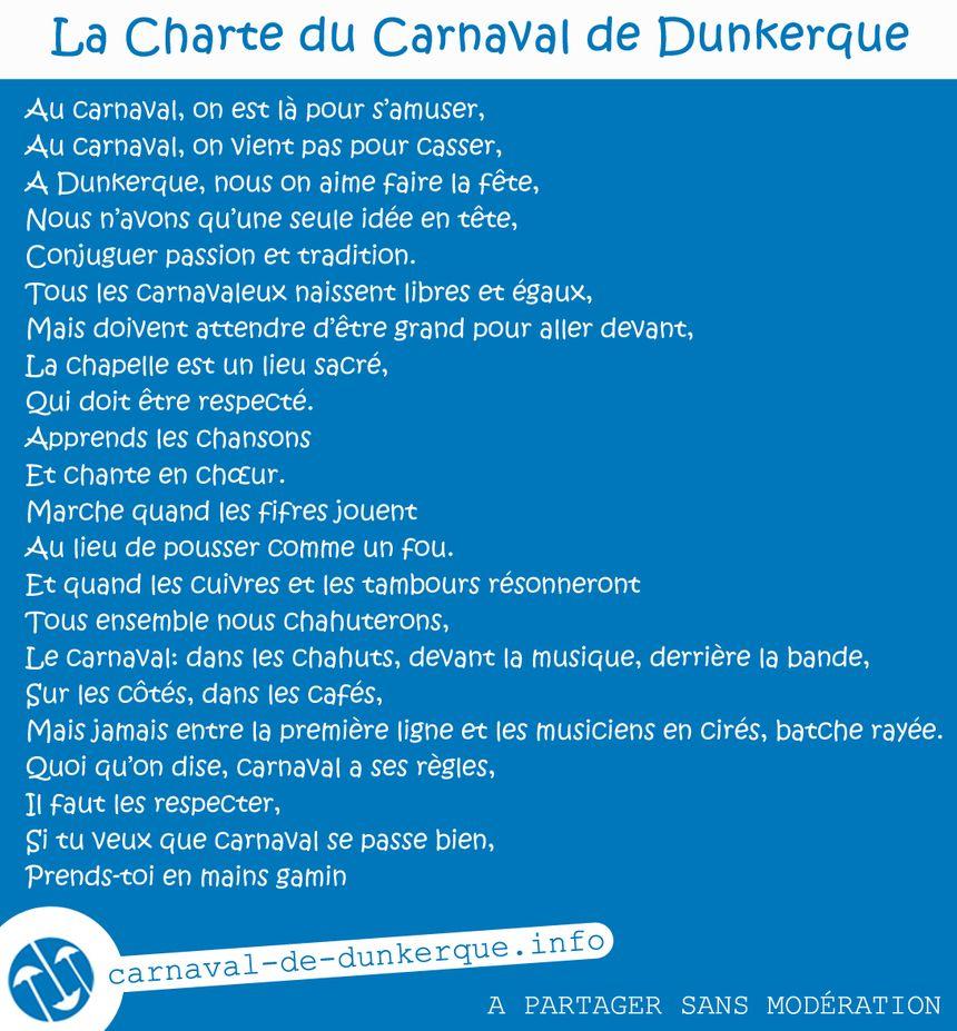 La charte du Carnaval de Dunkerque