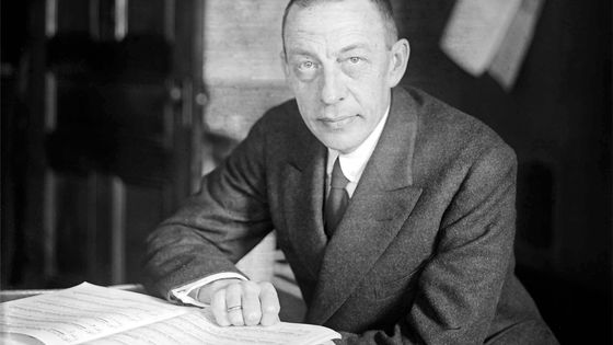 Le compositeur et pianiste russe Serge Rachmaninov, vers 1925