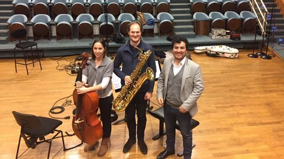 Jeanne Maisonhaute, Carl-Emmanuel Fisbach et Juan Arroyo au studio 106