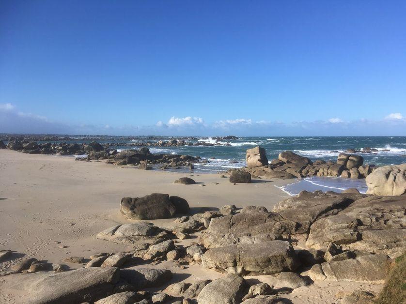 La plage du hameau de Meneham dans le Finistère