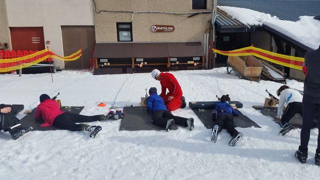 Le stand d'initiation au biathlon, exemple de la diversification des activités à Autrans