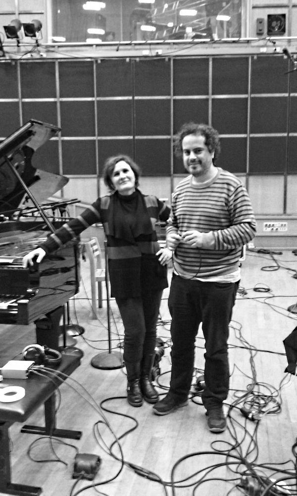 Lara Morciano et José Miguel Fernandez au studio 106
