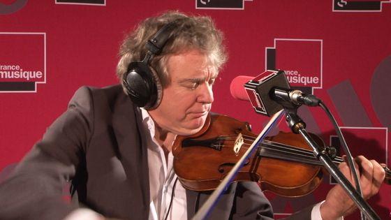 Didier Lockwood live dans le studio de la matinale cuturelle