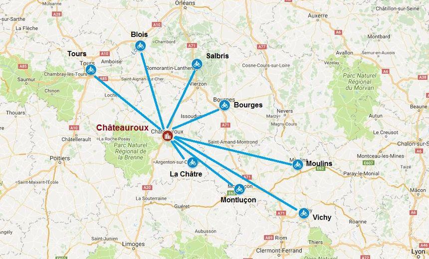Tous les usagers de la route vont converger des départements limitrophes de l'Indre pour être à la préfecture de Châteauroux à 15h