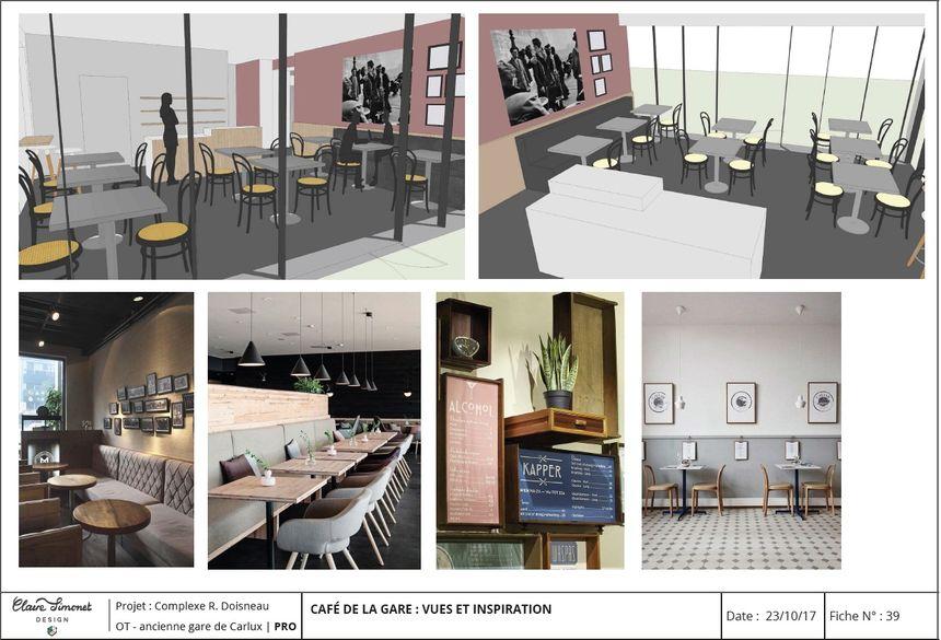le futur café de la gare de Carlux Espace Robert Doisneau