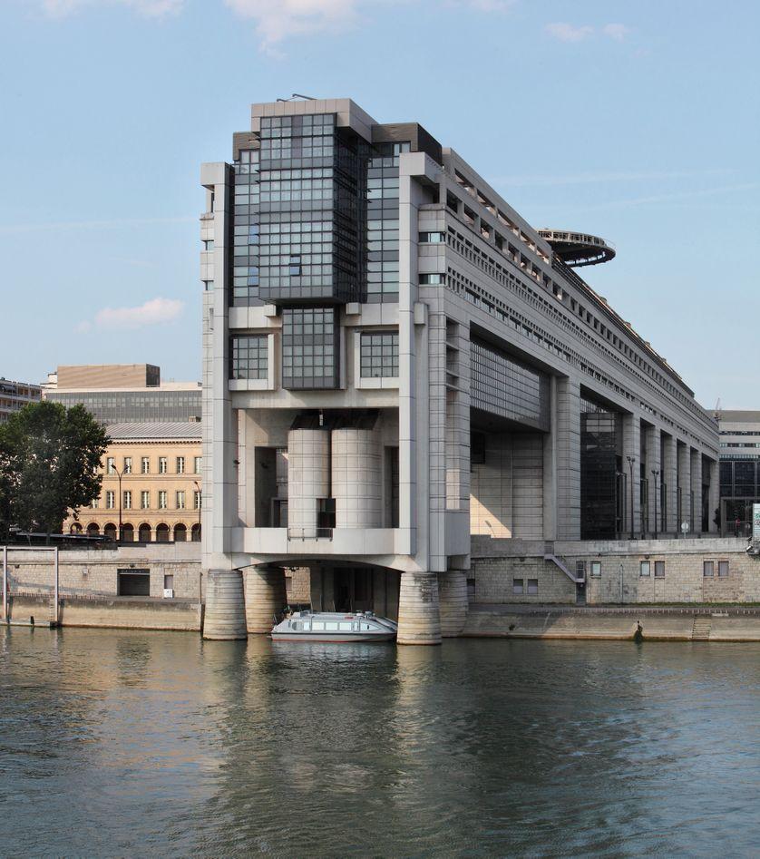 Le Ministère de l'économie et des finances à Paris