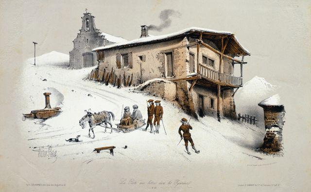 Une Poste dans les Pyrénées vers 1850