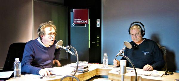 France Musique, studio 762, pendant l'émission... Benoît Duteurtre & Jean-Marie Bigard