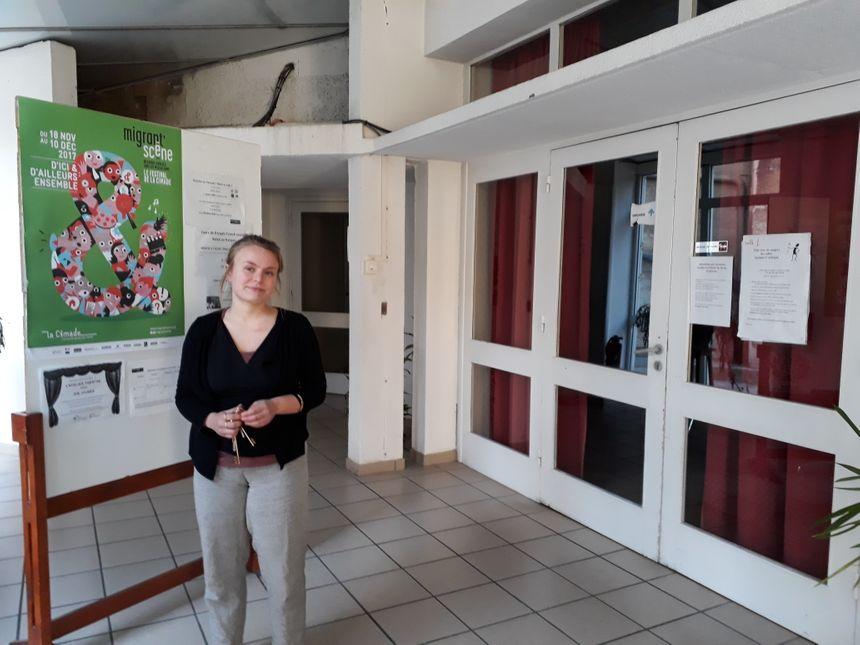 Anaelle Vandermeersch, la déléguée nationale de la CIMADE en région Bourgogne-Franche-Comté, ici dans les locaux dijonnais de l'association