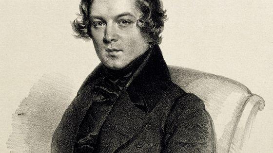 Portrait de Robert Schumann, lithographie, 1840