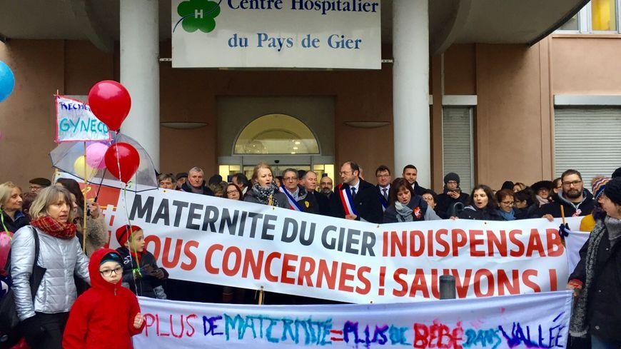 La dernière manifestation pour la maternité de Saint Chamond date du 27 janvier dernier