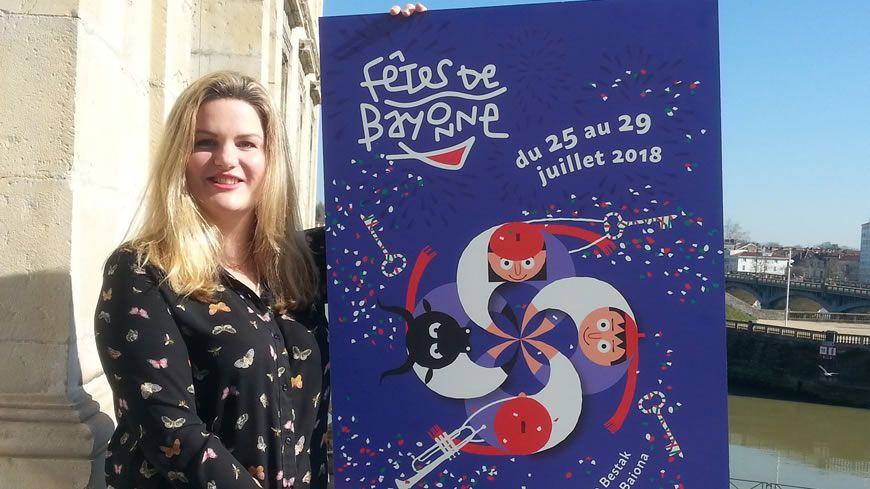 L'affiche des Fêtes de Bayonne 2018 a été dévoilée ce mardi matin dans les salons de l'hôtel de ville.