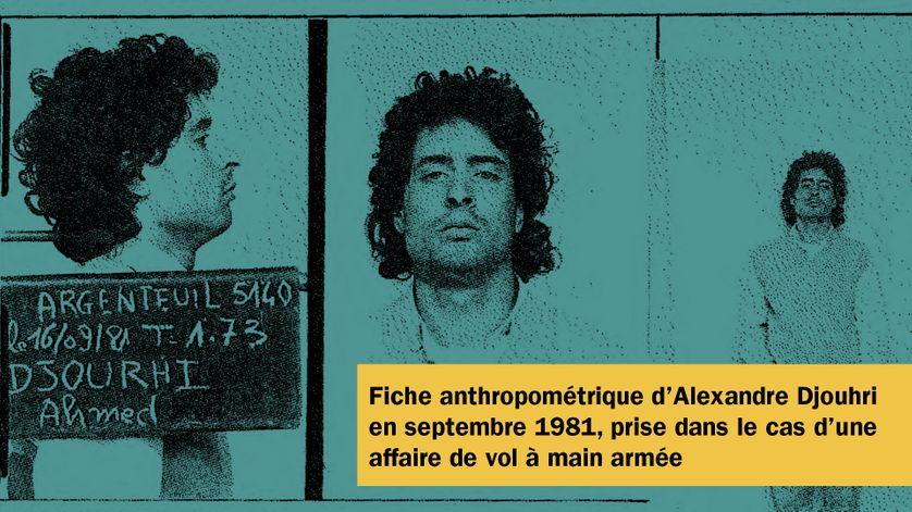 Fiche anthropométrique d'Alexandre Djouhri, en septembre 1981.