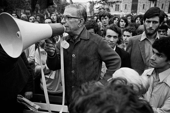 Jean-Paul Sartre contre le racisme, mai 1971