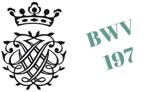 Monogramme de Bach - BWV 197