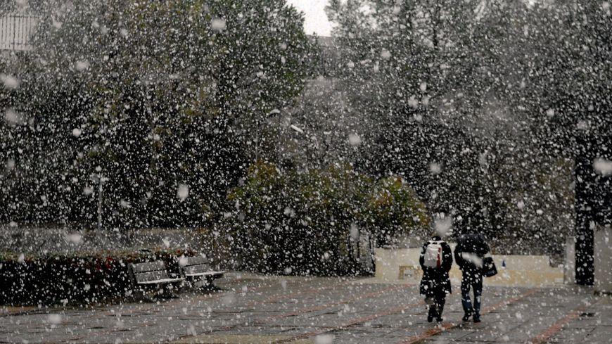 Episode neigeux à Aix-en-Provence en novembre dernier