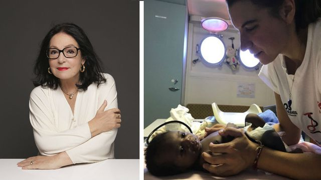 Nana Mouskouri © Kate Barry - V2 / Juliette Hersent en mission pour MSF, à bord de l'Aquarius © Lauren King - MSF