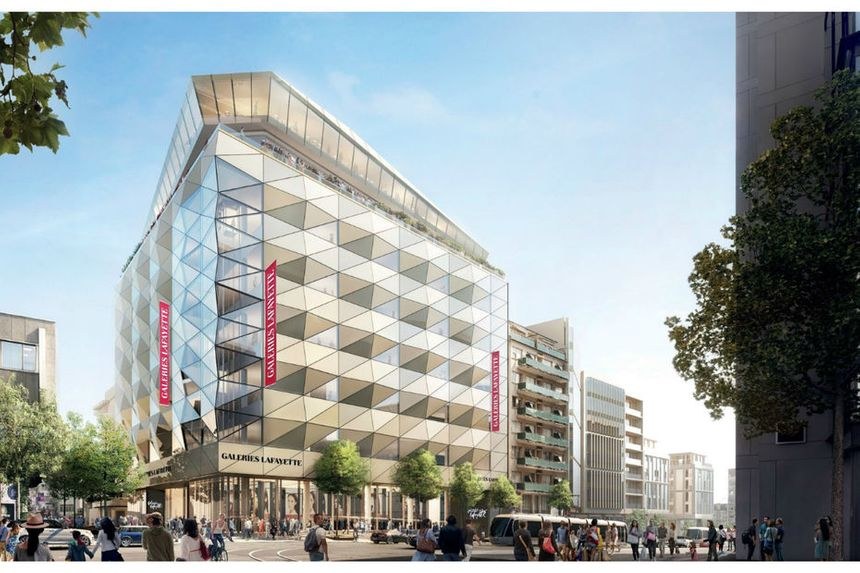 La façade du futur magasin de Luxembourg