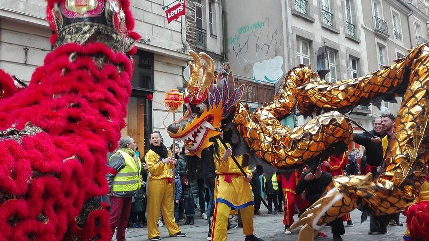 Lion contre dragon : le coup d'envoi de la semaine chinoise à Rennes est lancé.