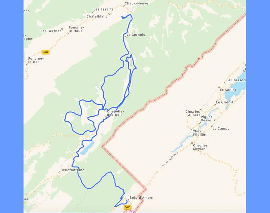 Le parcours inédit de la Transjurassienne 2018 entre Bois d'Amont et Chaux-Neuve (56 km)