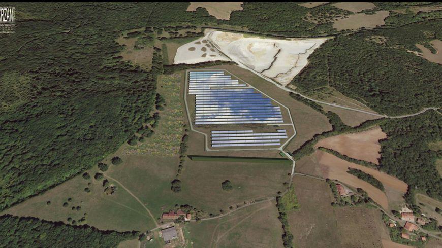 La ferme photovoltaïque va s'installer au lieu-dit Hautefaye.