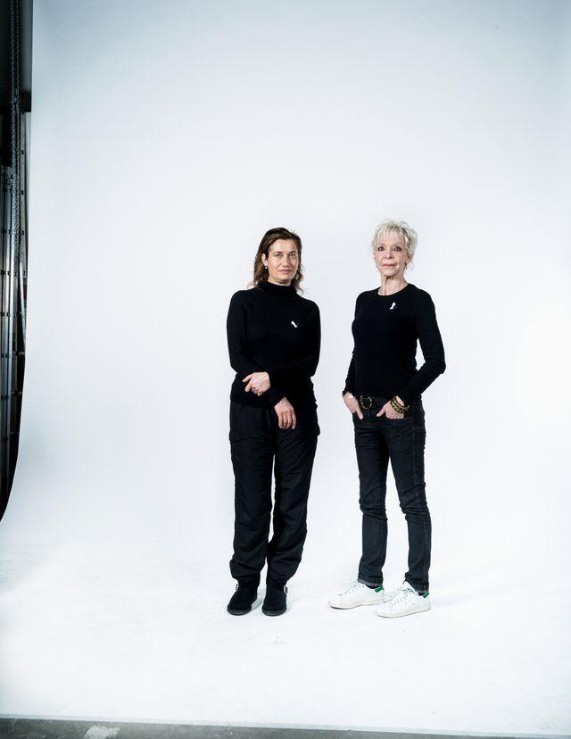 Emmanuel Devos et Tonie Marshall, lors du shooting pour #MaintenantOnAgit
