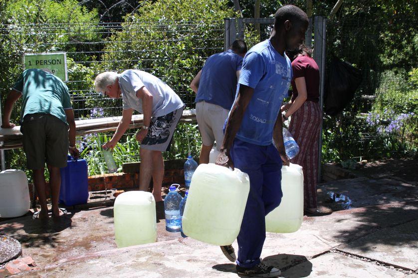Pénurie d'eau dramatique dans la ville du Cap, en Afrique du Sud