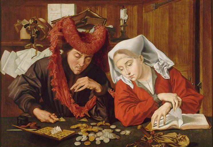 Marinus Claesz van Reymerswaele, Le banquier et sa femme