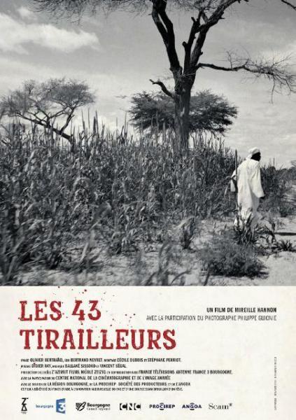 """affiche du documentaire """"Les 43 Tirailleurs"""" de Mireille Hannon"""