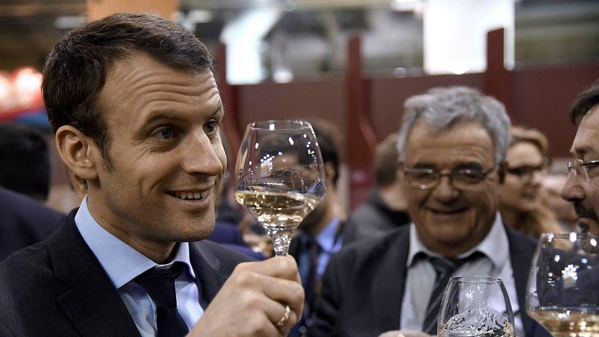 Emmanuel Macron au Salon de l'Agriculture en 2016.